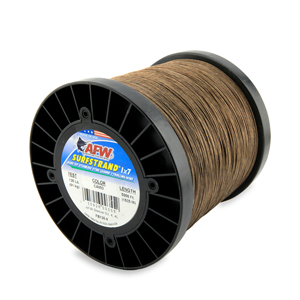 Surfstrand, Bare 1x7 Stainless Steel Leader Wire, 135 lb (61 kg) test, .027 in (0.69 mm) dia, Camo, 5,000 ft (1,524 m)