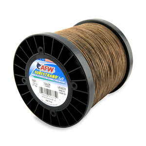 Surfstrand, Bare 1x7 Stainless Steel Leader Wire, 170 lb (77 kg) test, .033 in (0.84 mm) dia, Camo, 5,000 ft (1,524 m)