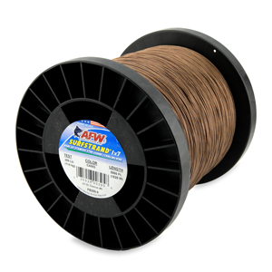 Surfstrand, Bare 1x7 Stainless Steel Leader Wire, 250 lb (114 kg) test, .039 in (0.99 mm) dia, Camo, 5,000 ft (1,524 m)