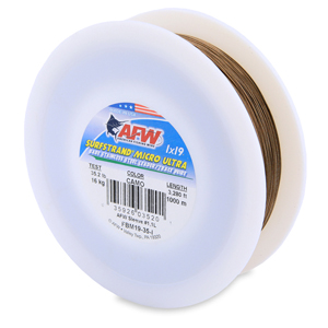 Surfstrand Micro Ultra, Bare 1x19 Stainless Steel Leader Wire, 35 lb (16 kg) test, .014 in (0.36 mm) dia, Camo, 3,280 ft (1,000 m)