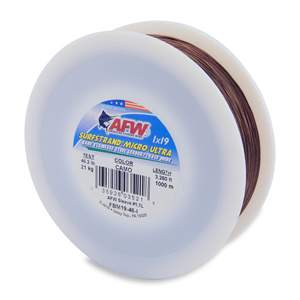Surfstrand Micro Ultra, Bare 1x19 Stainless Steel Leader Wire, 46 lb (21 kg) test, .016 in (0.41 mm) dia, Camo, 3,280 ft (1,000 m)