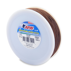Surfstrand Micro Ultra, Bare 1x19 Stainless Steel Leader Wire, 61 lb (28 kg) test, .020 in (0.51 mm) dia, Camo, 3,280 ft (1,000 m)