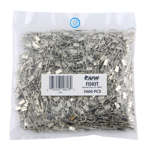 Interlock Snaps, Size #3, 30 lb (14 kg) test, Nickel, 1,000 pc