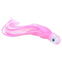C&H, Lil' Stubby XL Lure, Pink/White Skirt, Flat Head, 10 in (25.4 cm)
