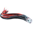 C&H, Lil' Stubby XL Lure, Black Foil/Red Skirt, Flat Head, 10 in (25.4 cm)