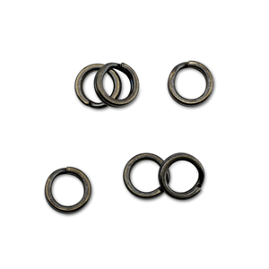 Mighty Mini Stainless Steel Split Ring, Size #4, 88 lb (40 kg) test, Gunmetal Black, 6 pc