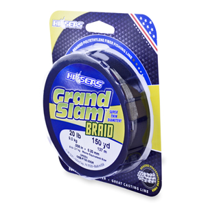 Grand Slam Braid, 20 lb (9.1 kg) test, .008 in (0.20 mm) dia, Green, 150 yd (137 m)