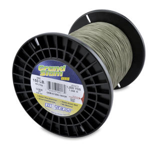 Grand Slam Braid, 150 lb (68.2 kg) test, .022 in (0.56 mm) dia, Green, 1200 yd (1097 m)