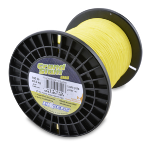 Grand Slam Braid, 100 lb (45.5 kg) test, .019 in (0.48 mm) dia, Fluorescent Yellow, 2500 yd (2286 m)