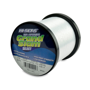 Grand Slam Select Monofilament Line, 10 lb (4.5 kg) test, .012 in (0.31 mm) dia, Fluorescent Clear Blue, 5560 yd (5084 m)