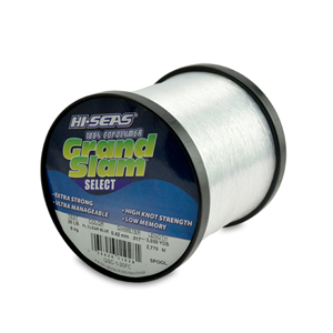 Grand Slam Select Monofilament Line, 20 lb (9.0 kg) test, .017 in (0.42 mm) dia, Fluorescent Clear Blue, 3030 yd (2770 m)