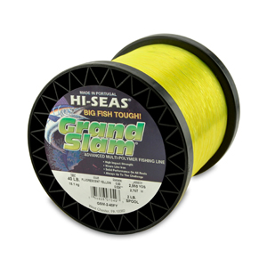 Grand Slam Mono Line, 40 lb (18.1 kg) test, .024 in (0.60 mm) dia, Fluorescent Yellow, 2960 yd (2707 m)