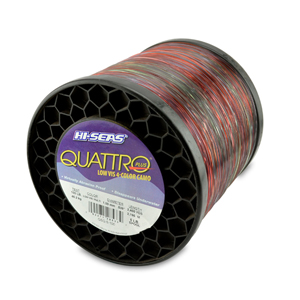 Quattro Mono Line, 100 lb (45.3 kg) test, .039 in (1.00 mm) dia, 4-Color Camo, 2400 yd (2195 m)