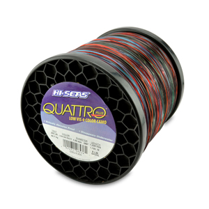 Quattro Mono Line, 200 lb (90.7 kg) test, .059 in (1.50 mm) dia, 4-Color Camo, 1225 yd (1120 m)