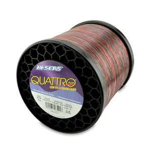 Quattro Mono Line, 20 lb (9.0 kg) test, .018 in (0.45 mm) dia, 4-Color Camo, 13000 yd (11887 m)