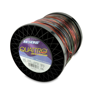 Quattro Mono Line, 250 lb (113.3 kg) test, .071 in (1.80 mm) dia, 4-Color Camo, 850 yd (777 m)