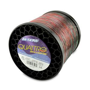 Quattro Mono Line, 30 lb (11.3 kg) test, .022 in (0.55 mm) dia, 4-Color Camo, 8000 yd (7315 m)