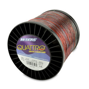 Quattro Mono Line, 40 lb (18.1 kg) test, .024 in (0.60 mm) dia, 4-Color Camo, 7000 yd (6401 m)