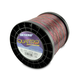 Quattro Mono Line, 50 lb (22.6 kg) test, .028 in (0.70 mm) dia, 4-Color Camo, 5000 yd (4572 m)