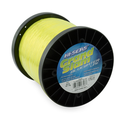 Grand Slam Bluewater Line, 40 lb (18.1 kg) test, .024 in (0.60 mm) dia, Fluorescent Yellow, 3000 yd (2743 m)