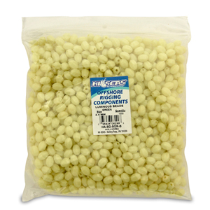 Luminous Glow Beads, Small 8.5 x 11.1 mm (0.33 x 0.45 in), Light Green, 1000 pc