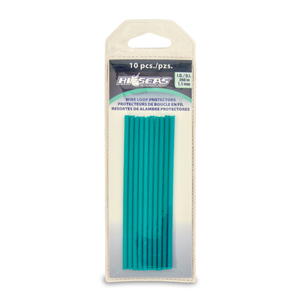 Spring Wire Loop Protectors, 1.5 mm (0.05 in) ID, 3.25 mm (0.12 in) OD, 4.125 in (10.4 cm) length, Green, 10 pc