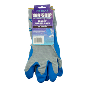 Sea Grip Premium Non-Slip Gloves, Light Blue/White, X-Large, 1 pair