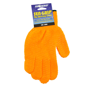 Sea Grip Non-Slip Pattern Gloves, Orange, Large, 1 pair