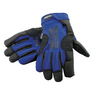 Sea Grip Super Fabric Offshore Gloves, Blue/Black, 1 pair