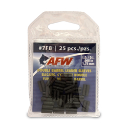 Double Barrel Sleeves, Size #7F8, .068 in (1.73 mm) ID, Black, 25 pc