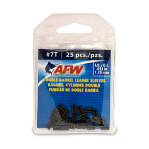 Thin Wall Double Barrel Sleeves, Size #7T, .053 in (1.35 mm) ID, Black, 25 pc
