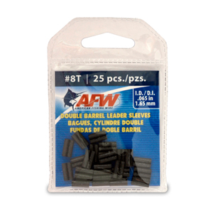 Thin Wall Double Barrel Sleeves, Size #8T, .065 in (1.65 mm) ID, Black, 25 pc