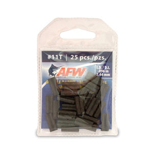 Thin Wall Double Barrel Sleeves, Size #11T, .096 in (2.44 mm) ID, Black, 25 pc