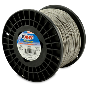 49 Strand, 7x7 Stainless Steel Shark Leader Cable, 400 lb (182 kg) test, .054 in (1.37 mm) dia, Bright, 1000 ft (305 m)