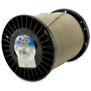 49 Strand, 7x7 Stainless Steel Shark Leader Cable, 800 lb (364 kg) test, .081 in (2.06 mm) dia, Bright, 1000 ft (305 m)