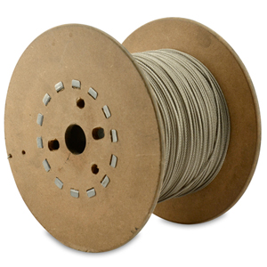 49 Strand, 7x7 Stainless Steel Shark Leader Cable, 900 lb (409 kg) test, .093 in (2.36 mm) dia, Bright, 1000 ft (305 m)