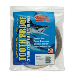 #18 Tooth Proof Stainless Steel Single Strand Leader Wire, 325 lb (148 kg) test, .041 in (1.04 mm) dia, Camo, 1 lb (454 g)