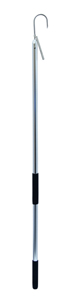 Gaff, 2 in (5.0 cm) Stainless Steel Hook, 4 ft (1.2 m) Aluminum Shaft with Foam Grip