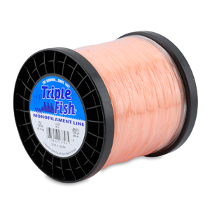 Triple Fish Mono Line, 100 lb (45.3 kg) test, .039 in (1.00 mm) dia, Pink, 1 lb (0.45 kg) Spool, 535 yd