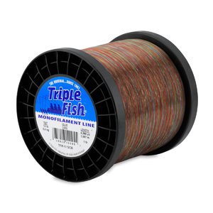 Triple Fish Mono Line, 12 lb (5.4 kg) test, .014 in (0.35 mm) dia, Camo, 1 lb (0.45 kg) Spool, 4360 yd (3987 m)