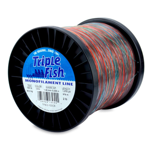 Triple Fish Mono Line, 100 lb (45.3 kg) test, .039 in (1.00 mm) dia, Camo, 2 lb (0.91 kg) Spool, 1070 yd (978 m)