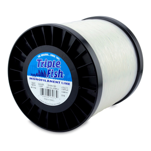 Triple Fish Mono Line, 100 lb (45.3 kg) test, .039 in (1.00 mm) dia, Clear, 5 lb (2.26 kg) Spool, 2675 yd (2446 m)