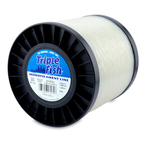 Triple Fish Mono Line, 125 lb (56.7 kg) test, .047 in (1.20 mm) dia, Clear, 5 lb (2.26 kg) Spool, 1850 yd (1692 m)