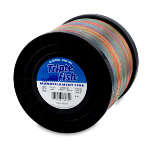 Triple Fish Mono Line, 150 lb (68.0 kg) test, .051 in (1.30 mm) dia, Camo, 5 lb (2.26 kg) Spool, 1575 yd (1440 m)
