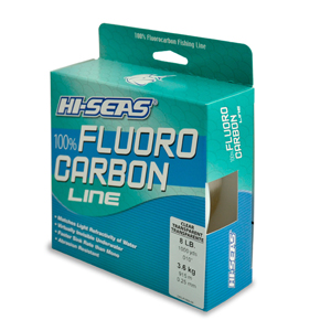 100% Fluorocarbon Line, 8 lb (3.6 kg) test, .012 in (0.30 mm) dia, Clear, 1000 yd (914 m)