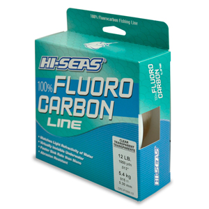 100% Fluorocarbon Line, 12 lb (5.4 kg) test, .014 in (0.35 mm) dia, Clear, 1000 yd (914 m)