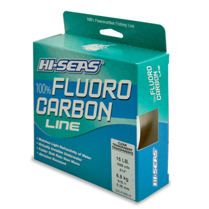 100% Fluorocarbon Line, 15 lb (6.8 kg) test, .016 in (0.40 mm) dia, Clear, 1000 yd (914 m)