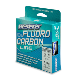 100% Fluorocarbon Line, 12 lb (5.4 kg) test, .014 in (0.35 mm) dia, Clear, 200 yd (182 m)