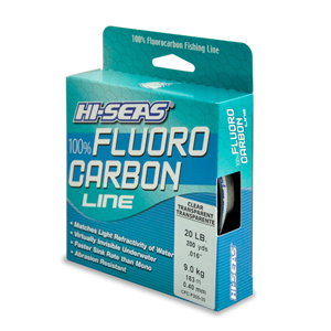 100% Fluorocarbon Line, 20 lb (9.0 kg) test, .017 in (0.42 mm) dia, Clear, 200 yd (182 m)