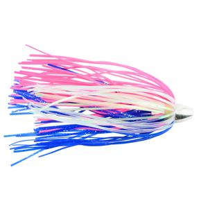 C&H, King Buster Lure, Blue/Pink/Pearl Mylar Skirt, 1/8 oz (3.5 g) Head, 2.5 in (6.35 cm), 3 pc